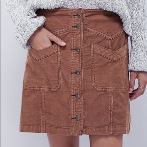 Free People Hold my Hand Cord Skirt [size 10]